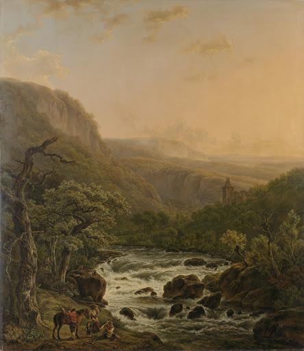 日没のアルデネスの川
