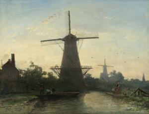 ロッテルダム近郊の風車