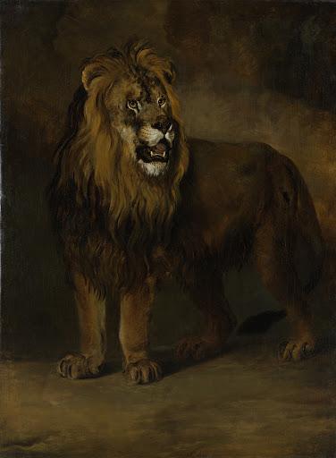 1808年、ルイ・ナポレオン王の見世物のライオン
