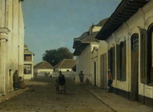 バタヴィア旧市街の通り