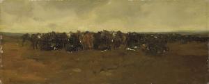 休息時の騎兵隊