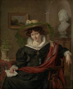 ルイス・ロイヤーの妻、カロリーナ・フレデリカ・カーストの肖像