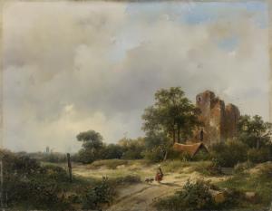 セントポートのブレデローデ城の遺跡とその風景