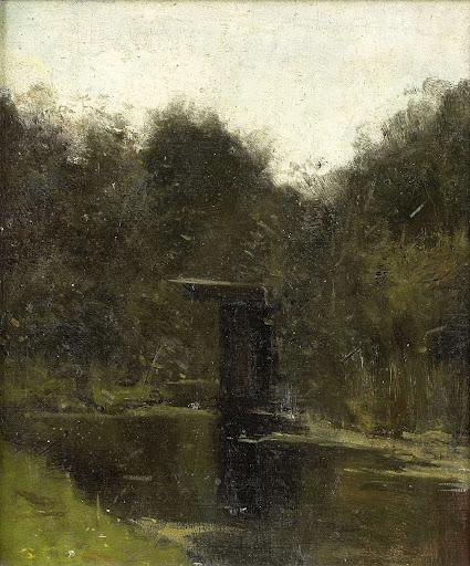 ブリューケレン近郊の池の隅