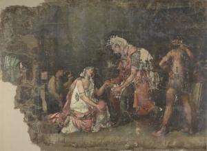 ヌミディアの王マシニッサの前で跪くソフォニスバ