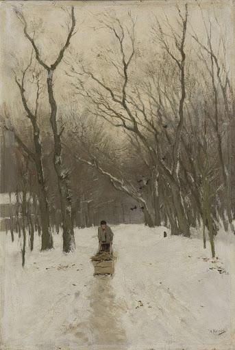 冬のスヘフェニンゲン森林公園
