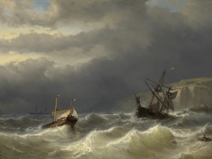 ドーバー海峡の嵐