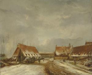 ナールデンの前の防護砲台、1814年