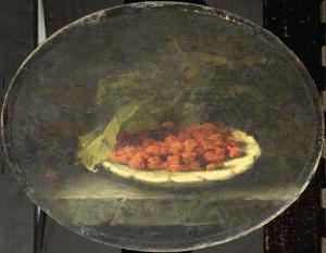 白いボールに入っているイチゴの静物