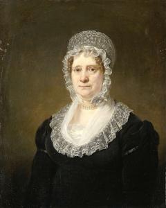 アムステルダムの保険業者、コーネリス・ハートセンの未亡人、サラ・デ・ハーンの肖像