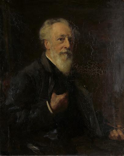 画家、J.A.B.ストローベル(1821-1905)の肖像