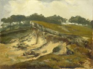 砂の採石場