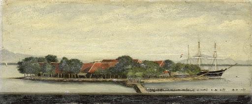 バタヴィア湾クイパー島の眺め