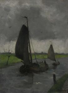 水路と帆船