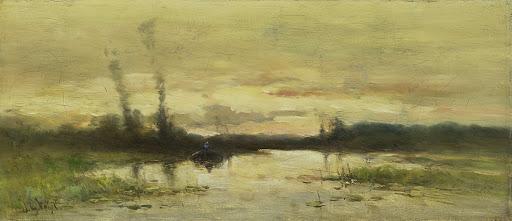 ヒルヴァーサムの運河の風景