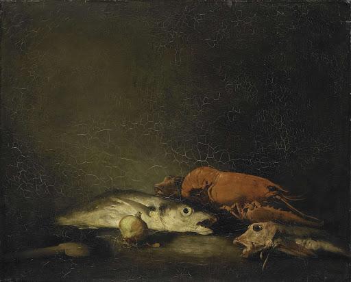 魚とロブスターの静物