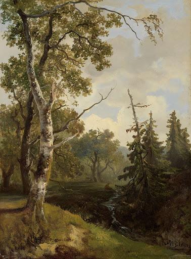ウォルフへーゼの森の風景