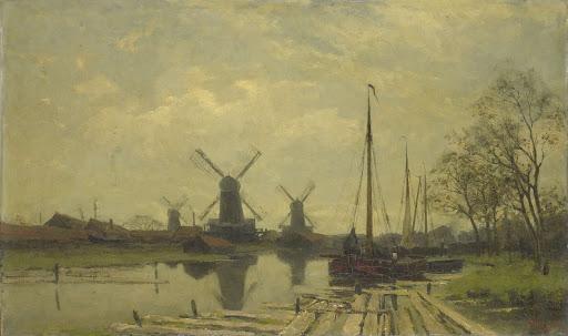 アムステルダム、バージスの近くの水路