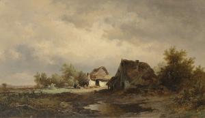 荒野の小屋の風景