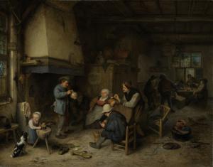 宿屋の農民たち