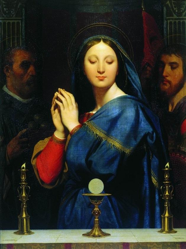 聖杯の前の聖母