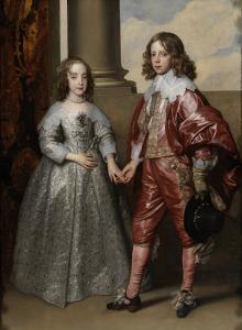 オラニエ公ウィレム2世と花嫁メアリースチュワート