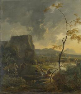 古代テンピエットのイタリア風景