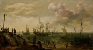 沿岸沿いの船