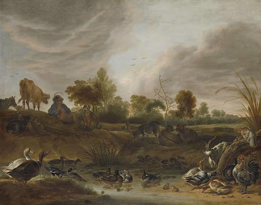 動物と風景