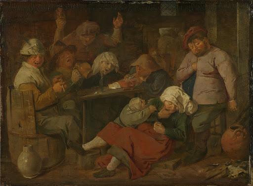 酒を飲む農民