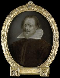 ラテン語の詩人、ゴーダ市長、フローレンティウス・ショーンホーヴェンの肖像
