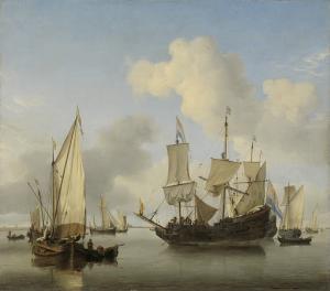 海岸に碇を下ろしている船