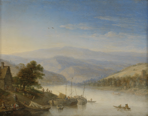 アンデマッハ近郊のライン川の眺め