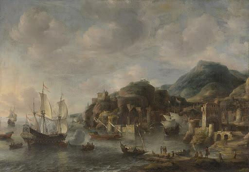 外国の港にあるオランダの船