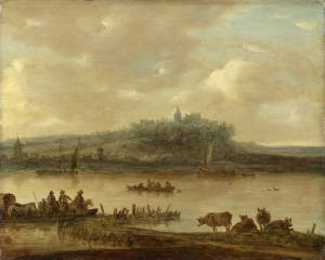 ライン川とエルターベルグの眺め