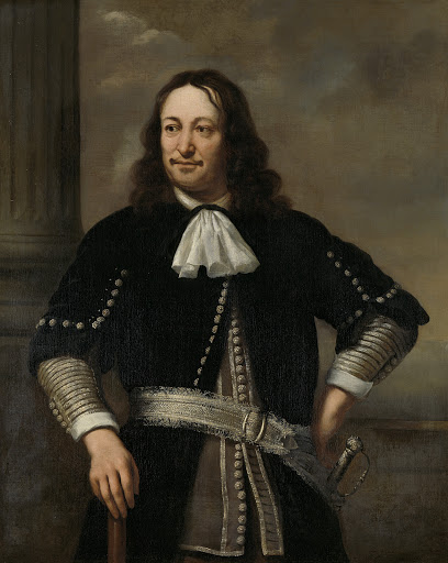 おそらく副長官アート・ヴァン・ネス(1626-1693)であろう、海軍将校の肖像