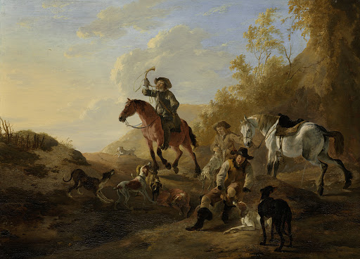 休息している狩人たち
