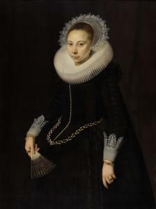 マリア・オヴァーリン・ヴァン・ショターボッシュ(1599/1600-1638)の肖像