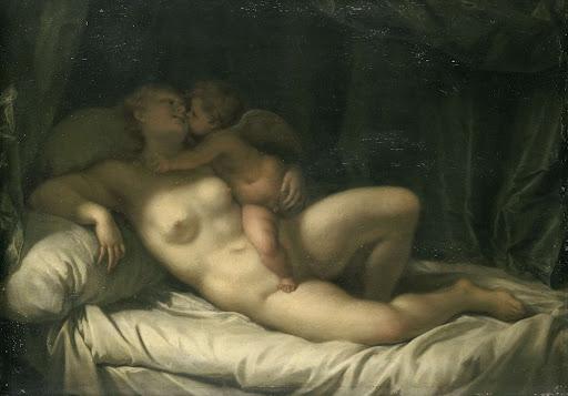 ヴィーナスにキスしているアムール