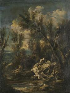 風景の中のカルタス修道士