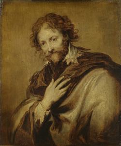 画家であり外交官であるピーター・ポール・ルーベンス(1577-1640)だとされる男の肖像画。