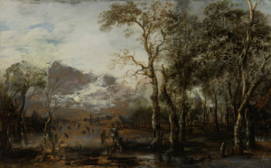 猟師と風景