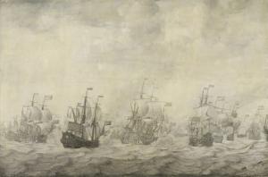 1665-67、第二次英蘭戦争、1666年6月11日〜14日の4日間の戦闘からのエピソード