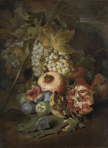 果物の静物画》アブラハム・ブリ...
