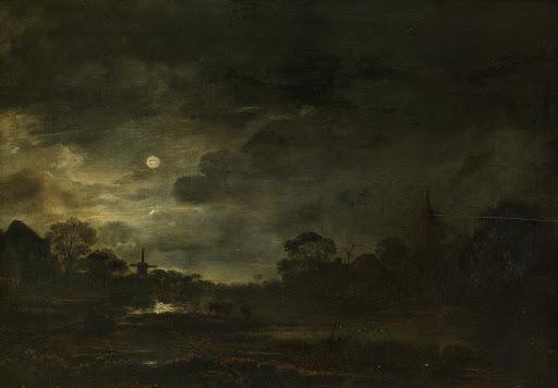 月明かりの風景