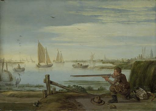 川岸の野鳥狩人