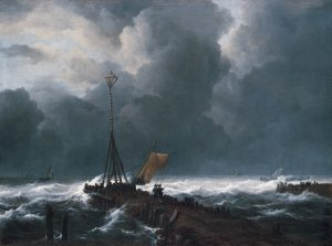 rough_sea_at_a_jetty_oil_on_canvas_painting_by_jacob_van_ruisdael_1650s