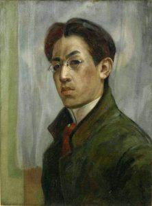 self-portrait-of-fujita1910