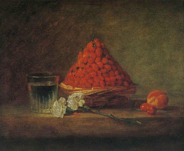 野イチゴの籠