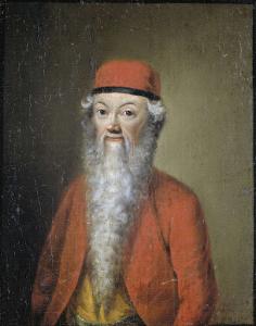 およそ54歳の、ジャン・エティエンヌ・リオタルトの風刺的な肖像